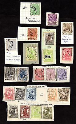 Stamps ~ ROMANIA Roumania ON PIECE Overprints ~ CLASSIC & RARITIES 1800s