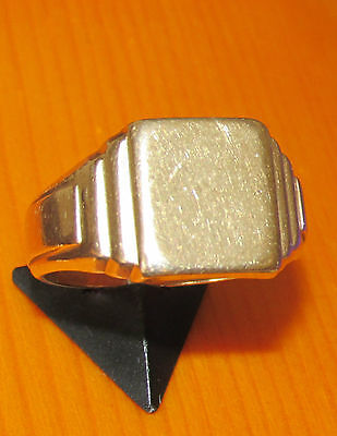 BEAUTIFUL SECONHAND 9ct  YELLOW GOLD GENT SIGNET RING SIZE U1/2