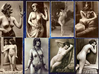 8 Nude Postcard Bygone Vintage Victorian Risque Reproduction Photos