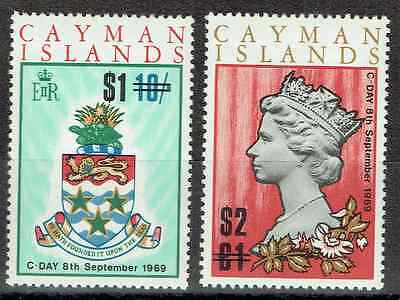 CAYMAN ISLANDS 1969, 6 x mint to One Pound, Change of currency, 3167
