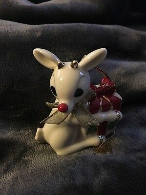 Lenox Holiday A GIFT FOR RUDOLPH Christmas Ornament 2002