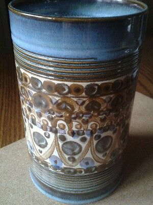 Denby vase 7 inches.  Signed piece 1960 style