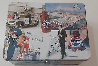 PEPSI COLA COLLECTIBLE TIN BOX BIGGER and BETTER 5c