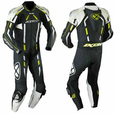 Ixon Pulsar Air Full Race Spec One Piece Motorcycle Leathers Yellow Latest Model