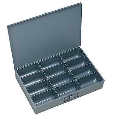 """Durham 115-95-IND Gray Cold Rolled Steel Individual Large Scoop Box, 18"""" W x 3"""""""