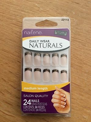 NAILENE daily Wear Naturals - 24 French Manicure False Nails In Medium 22113