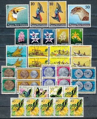 Collection of Papua New Guinea 1974 - 1975 mounted mint, fine used as scan