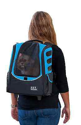 Pet Gear I-Go2 Escort Roller Backpack for Cats and Dogs up to 15-Pounds, Ocean B
