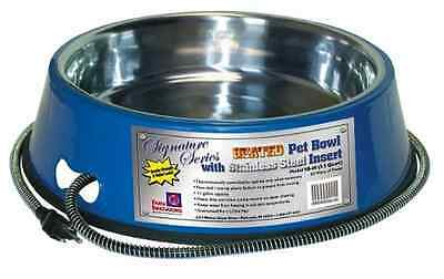 Farm Innovators Model SB-60 5-1/2-Quart Heated Pet Bowl with Stainless Steel Bow