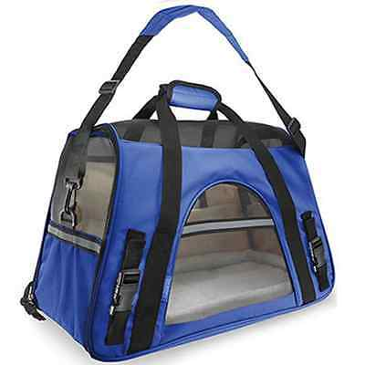 "Pet Carrier Soft Sided Cat / Dog Comfort ""FAA Airline Approved"" Travel Tote Bag"