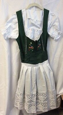 Dirndl Trachen Haus 3 Piece Long German Wear Party Octoberfest Waitress Dress