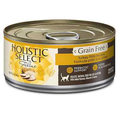 Holistic Select Natural Canned Grain Free Wet Cat Food, Turkey Pate, 5.5-Ounce C