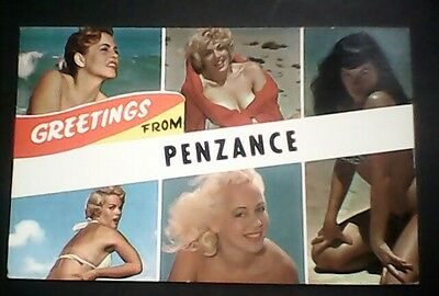 Sexy glamour Postcard from Penzance. Used but still collectable