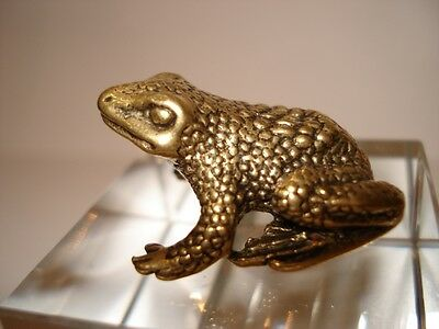 A Small Brass Frog a Toad Figurine / Figure