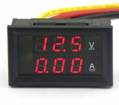 DROK® Digital Voltmeter Ammeter Voltage Current Meter DC 4.5-30V/10A 12V/24V