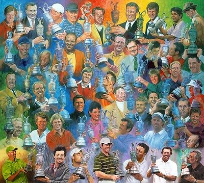 British Open Golf Champions Print