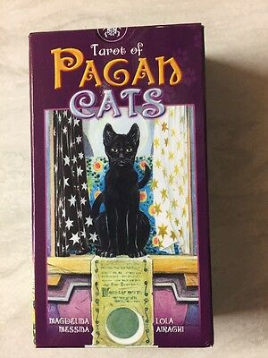 TAROT OF PAGAN CATS Messina, Airaghi - Lo Scarabeo - 78 FULL SIZE + Instructions