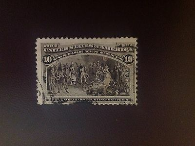 USA 1893 Columbus Expo 10c Sepia SG242 Used