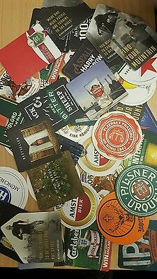 50 Different Assorted Beer Mat Collection