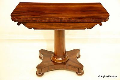 19th Century Mahogany Folding Card Table With Storage FREE Nationwide Delivery