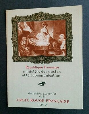 Timbre France 1376/1367 - Carnet Croix Rouge 1962 Neuf