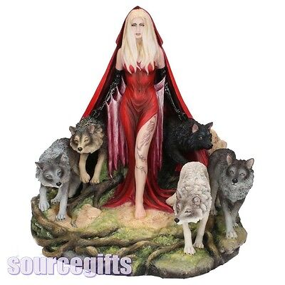 New * Howl * Wolf Wolves Maiden Ruth Thompson  Statue Figurine Ornament