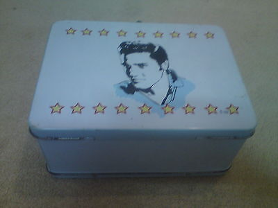 Elvis Tin Lunch Box, Size Is Just Over 8 Inches X Just Over 6 Inches X 4 Inches