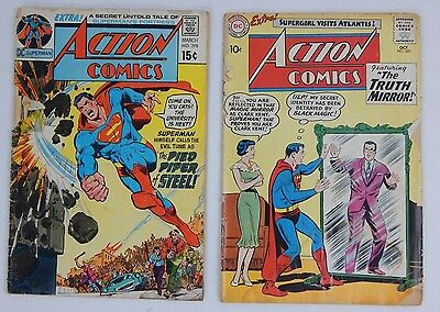 ACTION COMICS #269 OCT1960 & March #398 DC COMICS THE TRUTH MIRROR Piped Piper