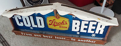 """STROH'S COLD BEER Snowflake Sign """"From one beer lover to another..."""""""