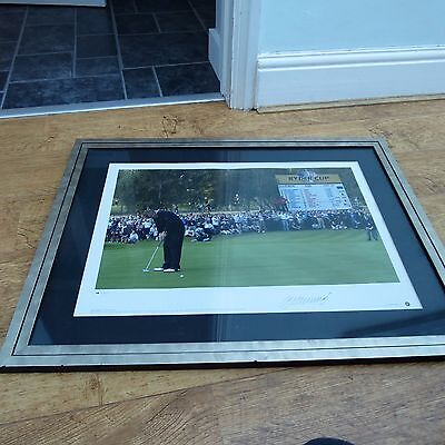Signed By Colin Montgomery Limited Edition Framed Print Ryder Cup 2002