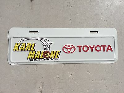 "Karl Malone Booster Dealer License Plate  "" Toyota ""  The Mailman Delivers Nba"
