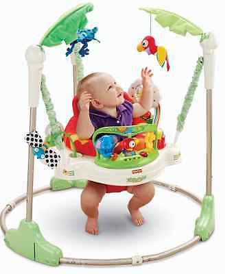 Fisher-Price Rainforest Jumperoo Baby Infant Bouncer Sit Play Comfort Seat Toy
