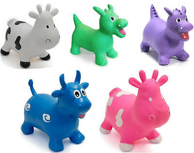Happy Hopperz Inflatable Kids Child Animal Space Hopper Bouncer Ride-On Toy BNIB