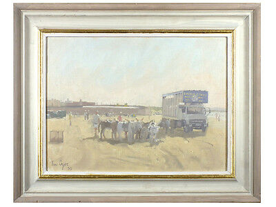 Ian Cryer - 'Beach Scene' - Original Oil on Canvas, Signed, Cornish Art Interest