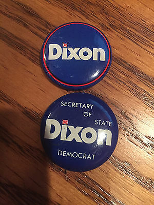 Alan Dixon for Illinois Secretary of State Buttons pins Lot of 2