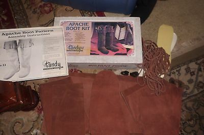 Vintage Apache Boot Kit And Patterns Tandy Leather Company  size 11