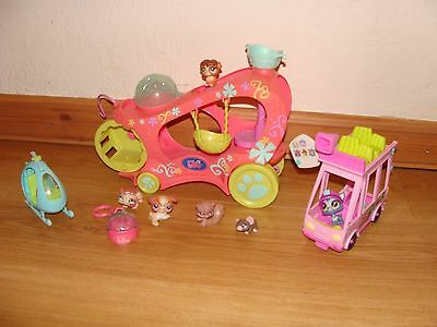 Littlest Pet Shop LPS Paw Powered Cruise Car and shuttle bus