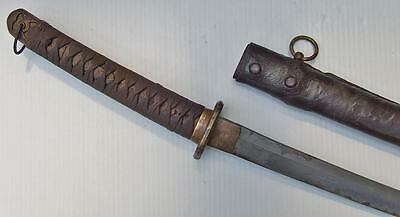 Original WWII Japanese Imperial Army Officer's Shin Gunto Signed Katana Sword