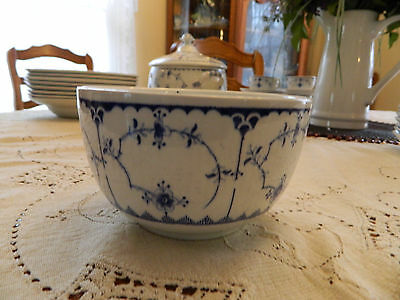 "Furnivals Limited China 5"" Cranberry/Rice Bowl 5-1 Blue and White"