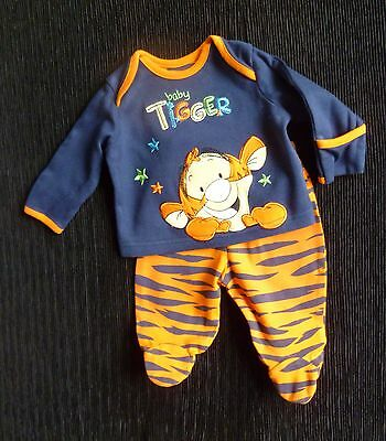 Baby clothes BOY newborn 0-1m outfit DISNEY@George orange Tigger LS top/trousers