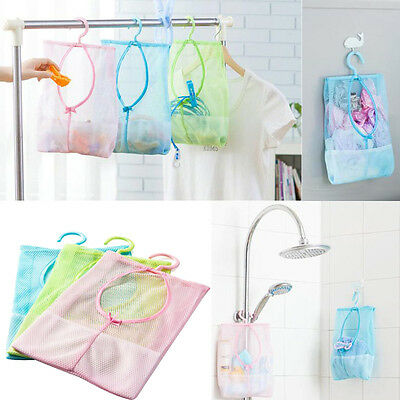 Kitchen Bathroom Hook Clothesline Storage Dry Doll Pillow Shelf Mesh Bag Hook