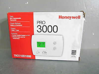 Honeywell PRO 3000 Non-Programmable Digital Thermostat TH3110D1008