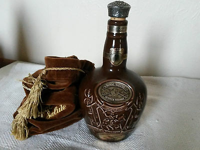 Chivas Brothers Spode Large Decanter with bag 9'' 75cl Empty