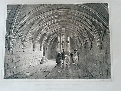 Ca 1850 Lithograph Ancient Crypt Chester by Day & Son