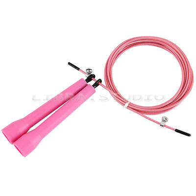 Speed Cable Jump Skipping Rope Crossfit Home Gym Healthy Workout Sporting Goods