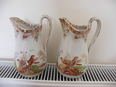 Pair of D J Evans and Co Swansea Pottery Jug