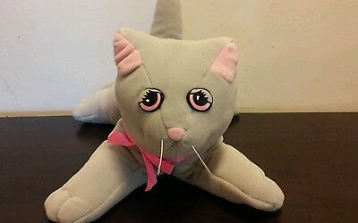 """Vintage 1980s Pound Purries Puppies Gray 12"""" Stuffed Animal Cat"""