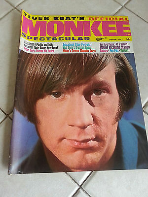 August 1967 Original Tiger Beat's Official MONKEE Spectacular