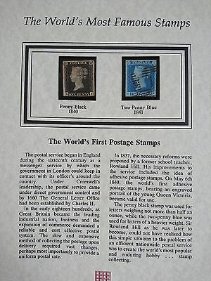 Penny Black & Two Penny Blue, Certificate of Authenticity, Good Margins.