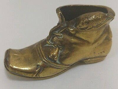 Vintage Peerage Brass Boot with Mouse Match Holder / Striker
